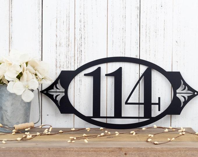 Metal Address Plaque | House Numbers | Outdoor Sign | Metal Wall Art | House Number Sign | Custom Metal Sign | Custom Address