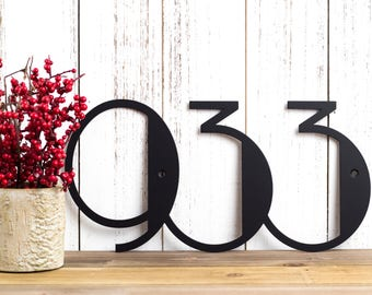 Modern House Numbers Sign   Metal House Number   Custom Metal Sign   Address Sign   Contemporary   Art Deco   Address Plaque