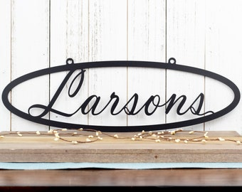 Custom Metal Sign | Name Sign | Last Name Sign | Family Name Sign | Metal Wall Art | Outdoor Sign | Custom Sign | Personalized Name Sign