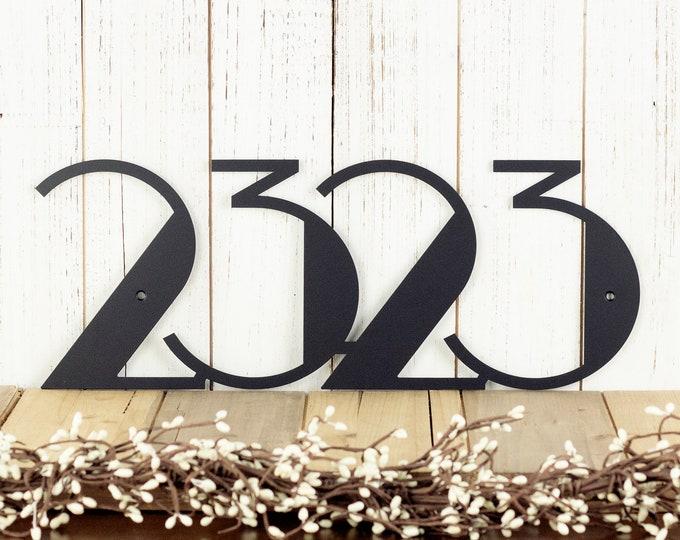 Modern House Number Sign | Metal Wall Art | Outdoor Sign | Custom House Number | House Numbers | Address Sign | Address
