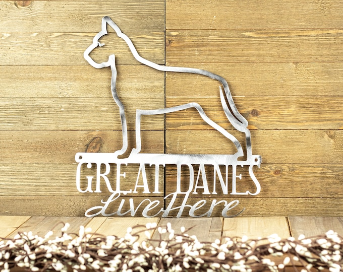 Great Dane Metal Wall Art | Metal Sign | Outdoor Sign | Dog Sign | Pet | Metal Wall Decor | Wall Hanging | Dog Decor | Gift