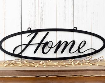 Metal Home Sign | Metal Wall Art | Metal Outdoor Sign | Metal Wall Decor | Home Sign | Wall Hanging | Outdoor Sign
