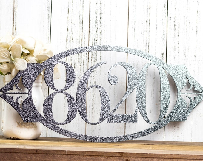 House Number Sign | Metal Sign | Metal Wall Art | Outdoor Sign | Address Sign | Custom Sign | Personalized Sign | 4 Digit Only