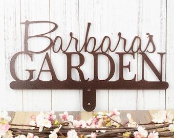 Personalized Garden Sign | Metal Garden Sign | Garden Decor | Metal Garden Art | Custom Metal Sign | Laser Cut Sign | Copper Vein shown