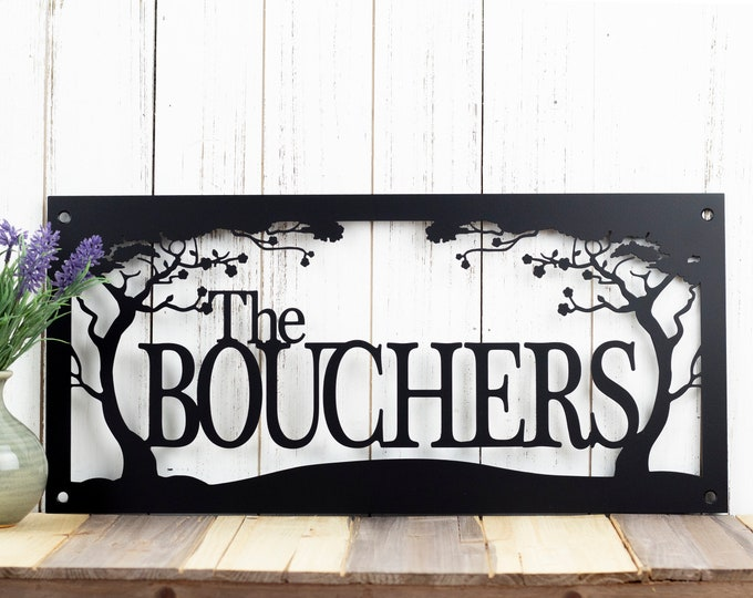 Custom Metal Sign | Name Sign | Last Name Sign | Metal Wall Art | Outdoor Sign | Custom Sign | Personalized Sign | Outdoor
