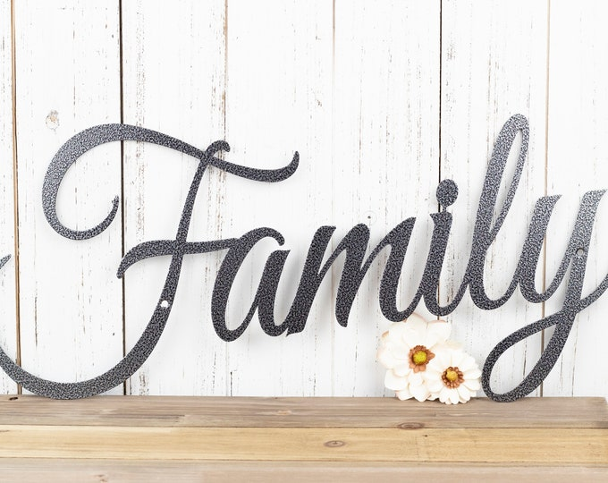 Family Metal Sign | Metal Wall Art | Family | Wall Hanging | Metal Wall Decor | Sign | Family Sign | Home Decor | Wall Art | Wall Decor