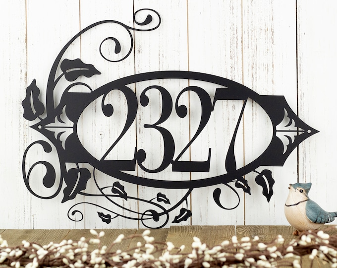 House Number Metal Sign   Address Sign   Address Plaque   Outdoor Sign   Custom Sign   House Numbers   Custom Metal Sign   Personalized Sign