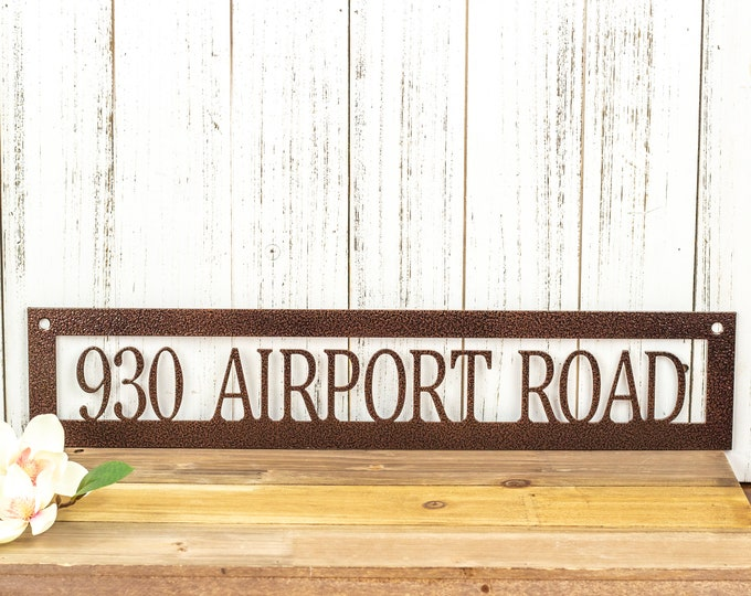 Metal Address Plaque | House Numbers | House Number Sign | Custom Metal Sign | House Number Plaque | Laser Cut Sign | Copper Vein shown