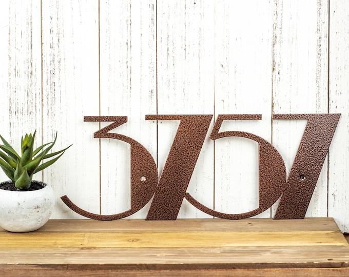 Custom Modern Outdoor Metal House Numbers - Copper, Art Deco, Modern House Numbers, Outdoor House Number Plaque