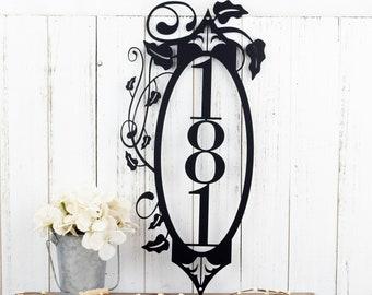 Custom Vertical House Number Metal Sign | Vertical Address | Metal Wall Art | Outdoor Sign | Address Sign | Address Plaque