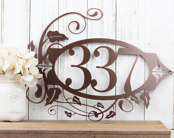 Metal House Number Sign | Outdoor Sign | Address Sign | Address Numbers | Custom Metal Sign | Custom House Number | 3 Digit Only