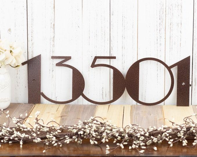 Modern House Number Metal Sign   Art Deco   Art Deco Numbers   Address Sign   Address Plaque   Modern Decor   Metal Wall Art