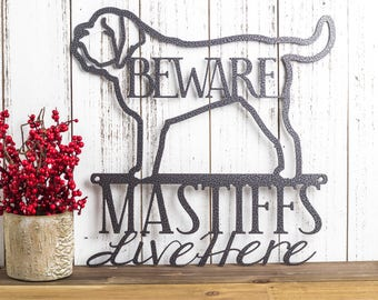 English Mastiff Metal Wall Art | Metal Sign | Mastiff | Metal Wall Decor | Sign | Dog Sign | Wall Hanging | Pet Sign