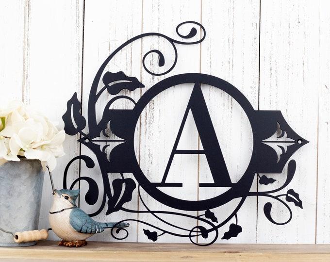 Monogram Metal Wall Art | Custom Sign | Monogrammed Sign | Personalized | Wedding Gift | Custom Monogram | Metal Wall Art