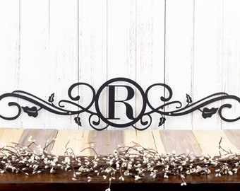 Monogram Metal Sign | Custom Sign | Monogrammed Sign | Wedding Gift | Custom Monogram | Personalized Metal Wall Art | Scrolls