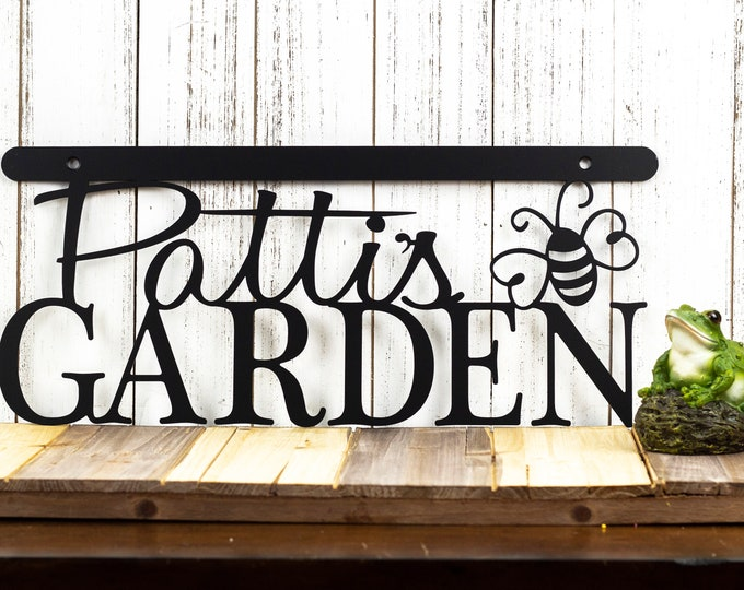 Garden Metal Wall Decor | Metal Sign | Name Sign | Custom Sign | Garden Decor | Wall Hanging | Gift For Her | Mothers Day Gift | Wall Art