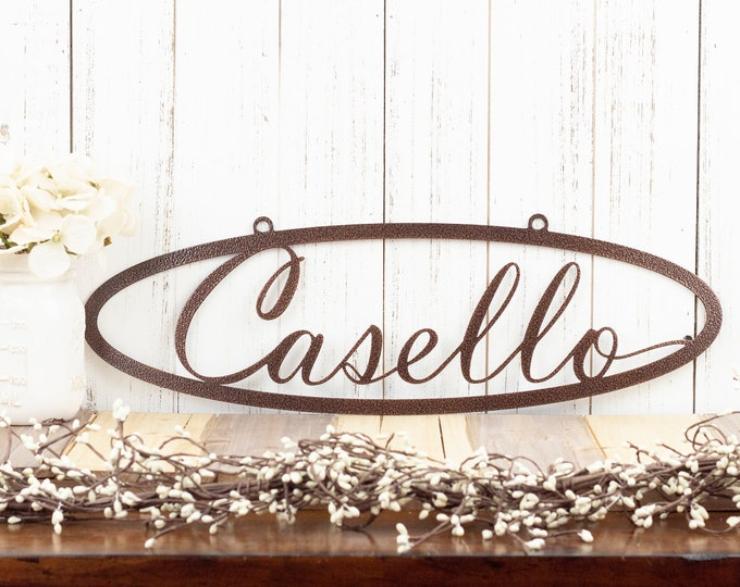 Custom Metal Sign | Name Sign | Last Name Sign | Custom Name Sign | Metal Wall Art | Outdoor Sign | House Sign | Family Name