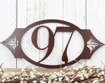 Custom House Number Metal Sign | Address Sign | Address Plaque | House Numbers | Outdoor Sign | Custom Sign | 2 Digit Only