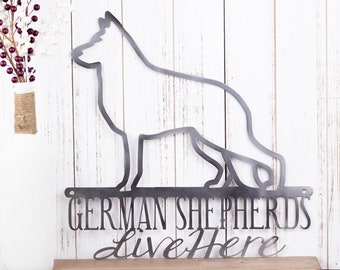 German Shepherd Metal Wall Art | German Shepherd Sign | Metal Sign | Dog Sign | Outdoor Sign | Wall Hanging | Gift | Sign