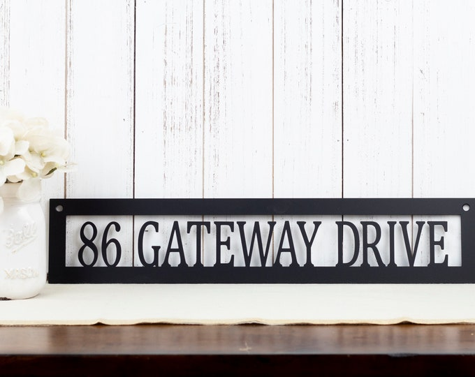 Metal Address Sign | Custom Metal Sign | House Number | Address Plaque | Outdoor Address | Outdoor House Number | Metal Sign | House Number