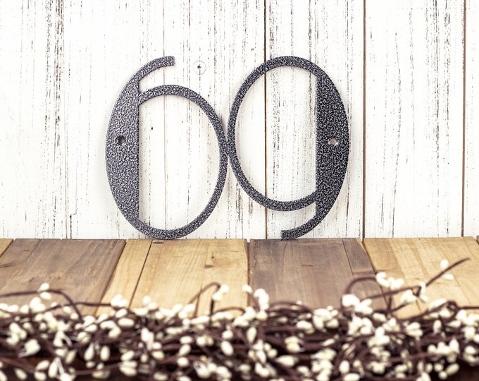 Art Deco Modern House Number / Metal Sign / Address Sign / Custom Sign / Address Plaque / Personalized Sign / example: Silver Vein, 2 Digit