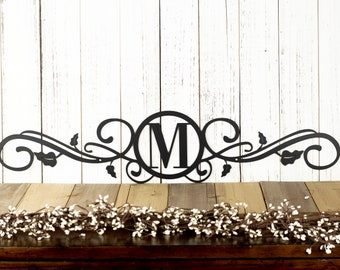 Monogram Metal Sign | Custom Sign | Monogrammed Sign | Wedding Gift | Custom Monogram | Personalized Metal Wall Art | Scrolls