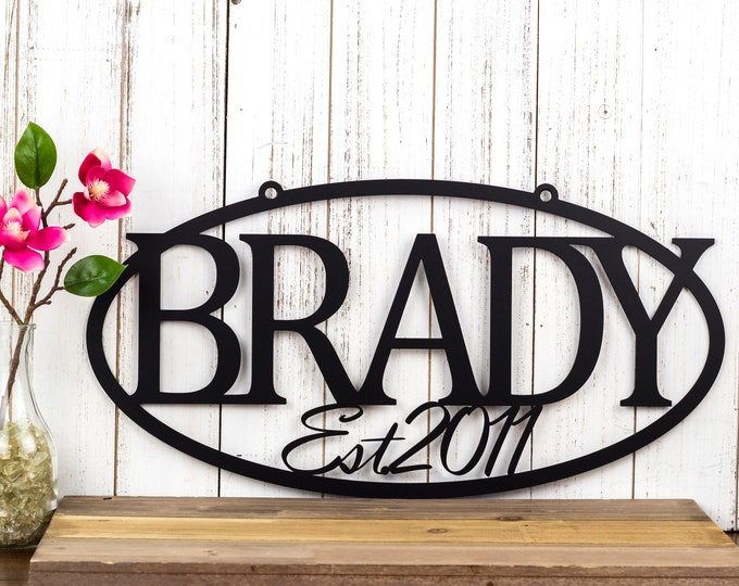 Family Established Metal Sign | Name Sign | Established | Metal Wall Art | Custom Sign | Outdoor Sign | House Sign | Personalized Sign