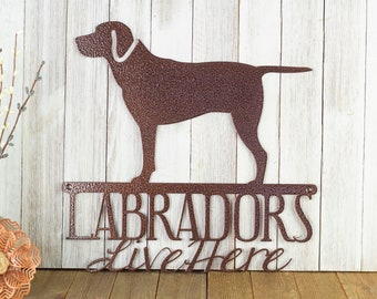 Labrador Retriever Dog Metal Wall Art