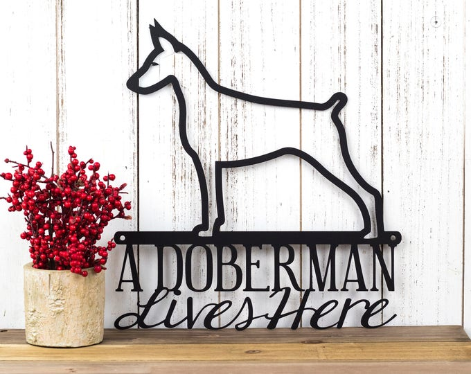 Doberman Metal Wall Art | Doberman Pinscher | Metal Sign | Dog Sign | Outdoor Sign | Doberman Sign | Metal Wall Decor