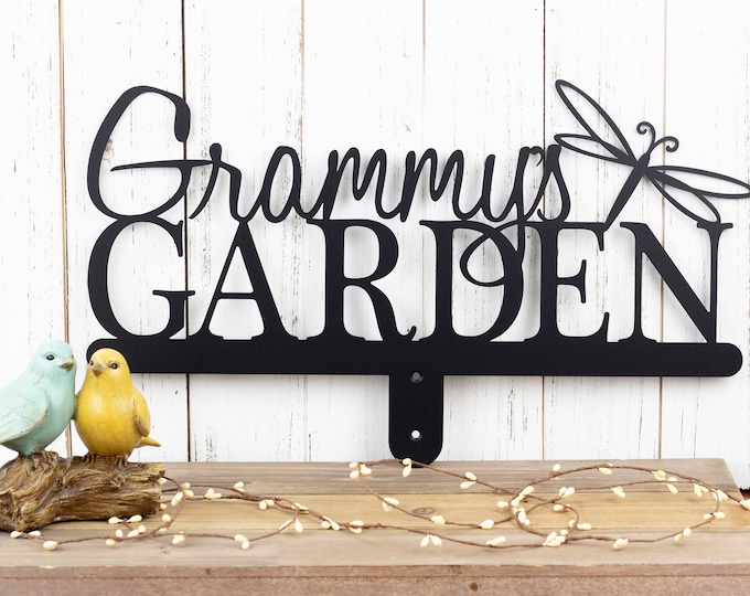 Custom Metal Garden Name Sign | Custom Garden Sign | Gift For Her | Garden Sign | Metal Sign | Name Sign | Personalized Sign