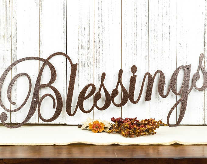 Blessings Metal Sign | Metal Wall Art | Metal Wall Decor | Wall Hanging | Steel | Gift | Gift for Her | Grandchildren | Wall Art