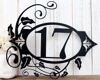 Custom Metal House Number | House Number Metal Sign | House Numbers Sign | Custom House Number Metal Sign | Outdoor Sign