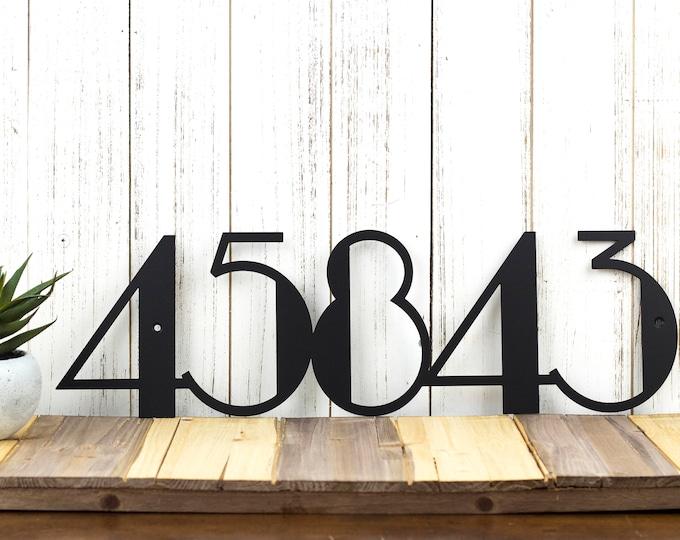Modern House Numbers | Modern Address | Art Deco | Metal Sign | Metal Wall Art | Outdoor Address | Address Numbers | Address