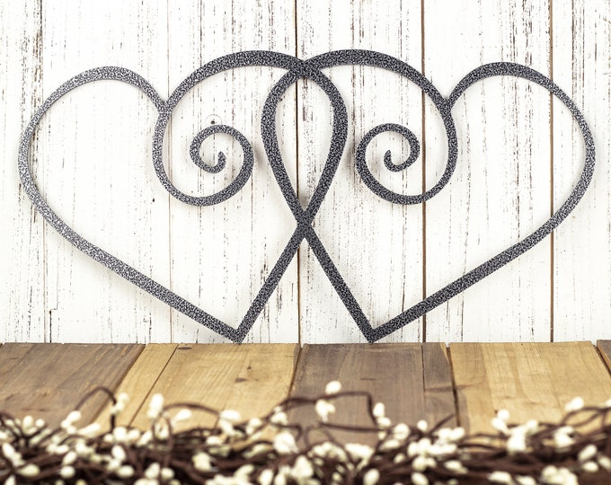 Heart Metal Wall Art, Metal Sign, Valentines, Hearts, Metal Art, Wall Decor, Wall Hanging, Love, Valentines Day Decor, Wall Art, Metal, Sign