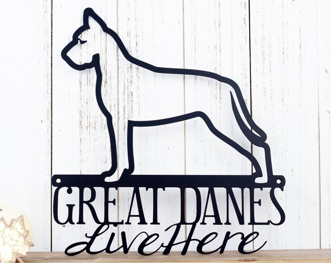 Great Dane Metal Wall Art | Metal Sign | Outdoor Sign | Dog Sign | Pet | Metal Wall Decor | Wall Hanging | Dog Decor | Gift