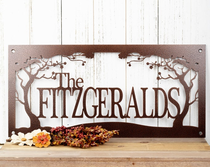 Family Name Metal Sign | Custom Family Name | Name Sign | Metal Wall Art | Outdoor Sign | Custom Metal Sign | Personalized Sign | Sign