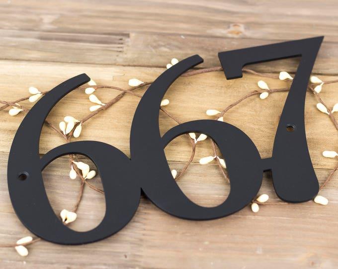 Custom Metal House Number | Address Sign | Address Plaque | House Numbers | Outdoor House Number | Custom Metal Sign | 3 Digit Only