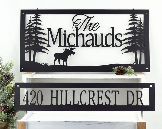 Custom Family Last Name Metal Sign | Address Sign | House Number | Personalized Sign | Custom Sign | Metal Wall Art | Name