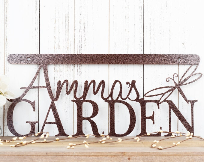 Custom Garden Sign | Garden Sign | Wall Art | Wall Decor | Metal Wall Art | Personalized Gift | Wall Hanging | Dragonfly