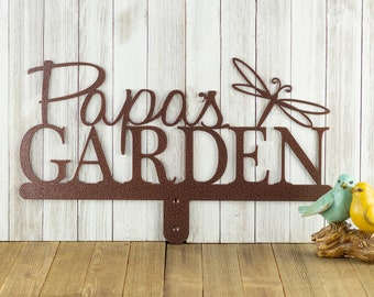 Personalized Garden Metal Name Sign