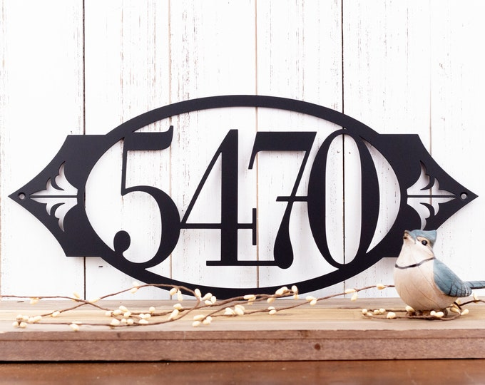 Outdoor House Number Metal Sign | Metal Address Sign | House Number Sign | Address House Numbers | Metal Wall Art | Outdoor
