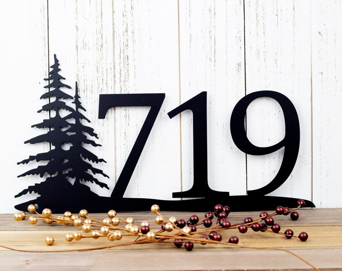 Rustic House Number | Metal Sign | House Numbers | Address Sign | Address Plaque | Custom Metal Sign | Metal Address | Personalized Sign