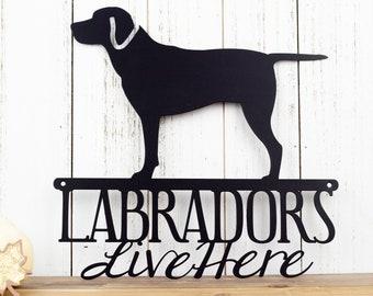 Labrador Metal Wall Art | Lab | Labrador Retriever | Metal Sign | Outdoor Wall Art | Wall Hanging | Dog Sign | Gift | Metal
