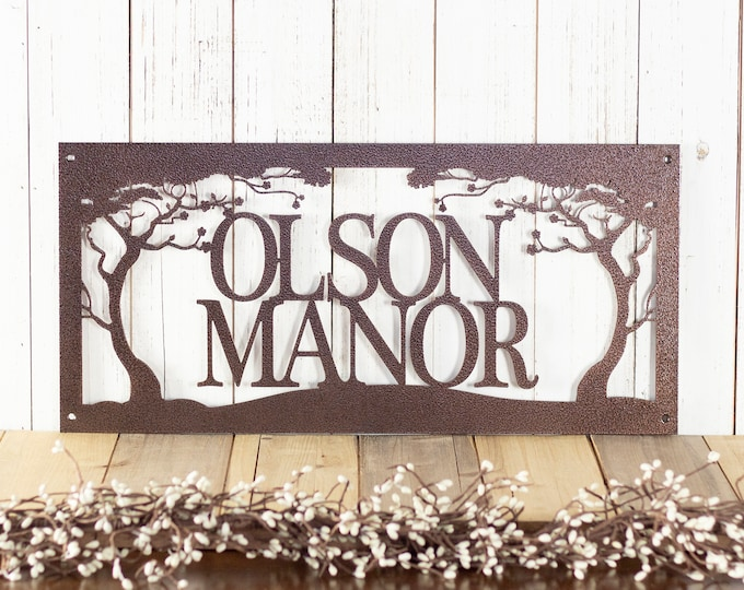 Laser Cut Name Sign - Custom Family Name Sign - Custom Metal Wall Art
