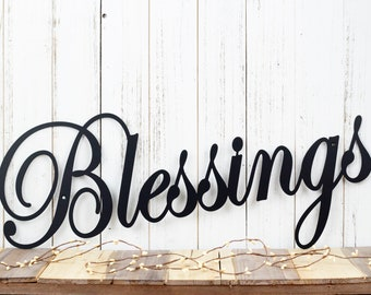 Blessings Metal Sign | Metal Wall Hanging | Metal Wall Decor | Gift For Her | Metal Wall Art | Home Decor | Family Sign