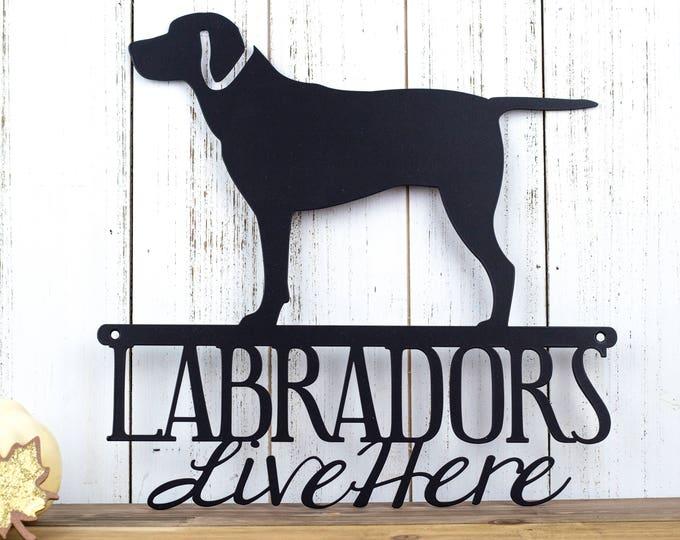Labrador Metal Wall Art   Lab   Labrador Retriever   Metal Sign   Outdoor Wall Art   Wall Hanging   Dog Sign   Gift   Metal