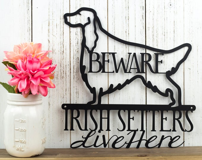 Irish Setter Metal Wall Art | Red Setter | Setter | Dog Sign | Metal Sign | Metal Wall Decor | Wall Hanging | Sign