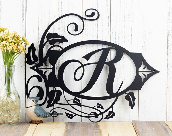Monogram Metal Sign | Personalized Sign | Custom Sign | Monogram Sign | Family Monogram Sign | Family Name Sign | Metal Wall Art