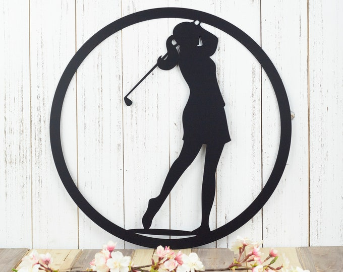 Golf Metal Wall Decor | Woman | Gift For Her | Golf Gift | Golfer Gift | Metal Wall Art | Metal Sign | Metal Wall Hanging