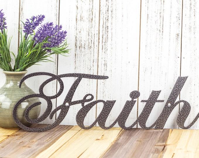 Faith Metal Wall Art   Metal Sign   Faith Sign   Spiritual   Religious   Inspirational   Metal Wall Decor   Wall Hanging   Metal Art